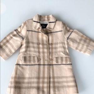 Girl - Burberry wool coat - 18m